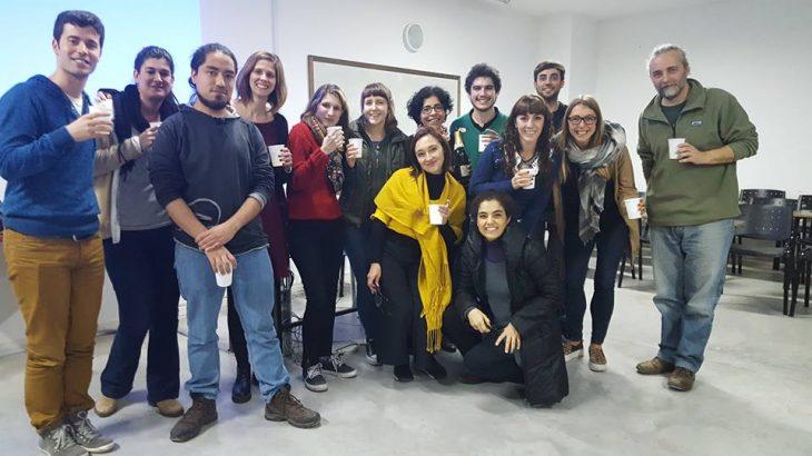 Julia en un encuentro sobre Etnografía e historia de las Clases Medias en Latinoamérica.